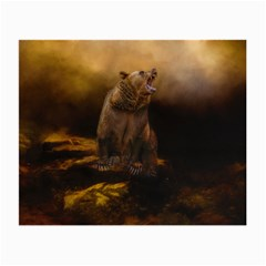 Roaring Grizzly Bear Small Glasses Cloth
