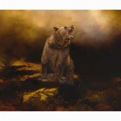 Roaring Grizzly Bear Canvas 20  X 24