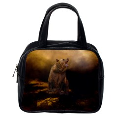 Roaring Grizzly Bear Classic Handbags (one Side)