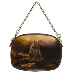 Roaring Grizzly Bear Chain Purses (two Sides)