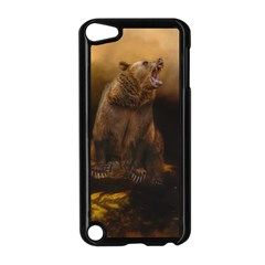 Roaring Grizzly Bear Apple Ipod Touch 5 Case (black)
