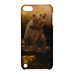 Roaring Grizzly Bear Apple Ipod Touch 5 Hardshell Case With Stand