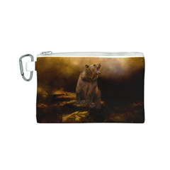 Roaring Grizzly Bear Canvas Cosmetic Bag (s)