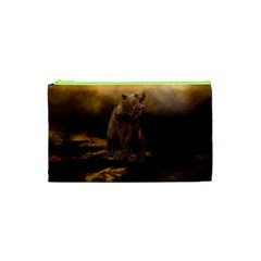 Roaring Grizzly Bear Cosmetic Bag (xs)