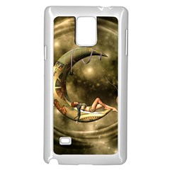 Steampunk Lady  In The Night With Moons Samsung Galaxy Note 4 Case (white)