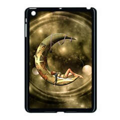 Steampunk Lady  In The Night With Moons Apple Ipad Mini Case (black)