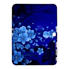 Floral Design, Cherry Blossom Blue Colors Samsung Galaxy Tab 4 (10 1 ) Hardshell Case