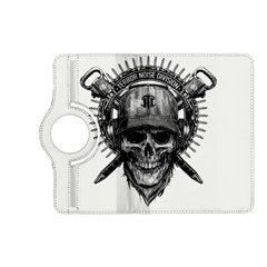 Skull Helmet Drawing Kindle Fire Hd (2013) Flip 360 Case