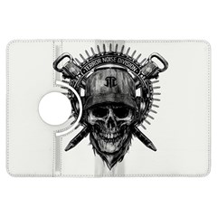 Skull Helmet Drawing Kindle Fire Hdx Flip 360 Case