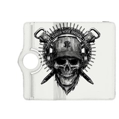 Skull Helmet Drawing Kindle Fire Hdx 8 9  Flip 360 Case