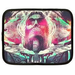 Skull Shape Light Paint Bright 61863 3840x2400 Netbook Case (large)