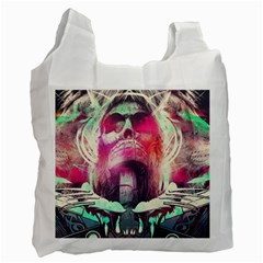Skull Shape Light Paint Bright 61863 3840x2400 Recycle Bag (two Side)