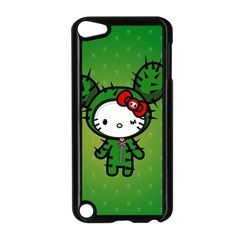 Vector Cat Kitty Cactus Green  Apple Ipod Touch 5 Case (black)