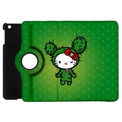 Vector Cat Kitty Cactus Green  Apple Ipad Mini Flip 360 Case