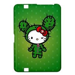 Vector Cat Kitty Cactus Green  Kindle Fire Hd 8 9