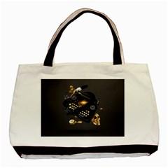 Typewriter Skull Witch Snake  Basic Tote Bag
