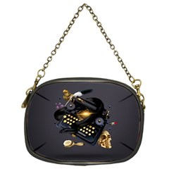 Typewriter Skull Witch Snake  Chain Purses (one Side)