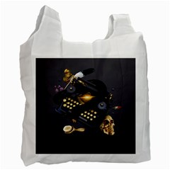 Typewriter Skull Witch Snake  Recycle Bag (one Side)