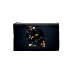 Typewriter Skull Witch Snake  Cosmetic Bag (small)