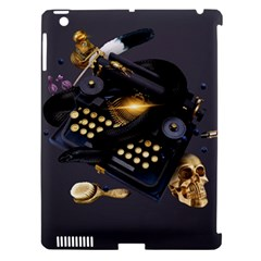 Typewriter Skull Witch Snake  Apple Ipad 3/4 Hardshell Case (compatible With Smart Cover)