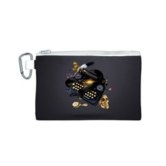 Typewriter Skull Witch Snake  Canvas Cosmetic Bag (s)