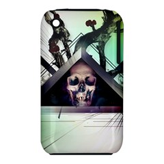 Skull Triangle Wood  Iphone 3s/3gs