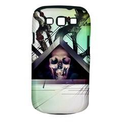 Skull Triangle Wood  Samsung Galaxy S Iii Classic Hardshell Case (pc+silicone)