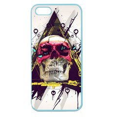 Skull Paint Butterfly Triangle  Apple Seamless Iphone 5 Case (color)