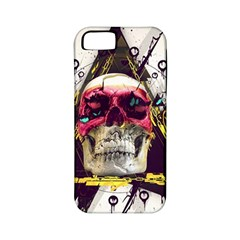 Skull Paint Butterfly Triangle  Apple Iphone 5 Classic Hardshell Case (pc+silicone)