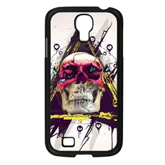 Skull Paint Butterfly Triangle  Samsung Galaxy S4 I9500/ I9505 Case (black)