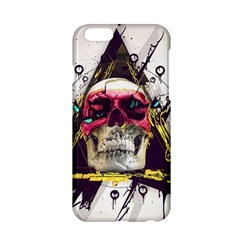 Skull Paint Butterfly Triangle  Apple Iphone 6/6s Hardshell Case