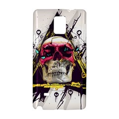 Skull Paint Butterfly Triangle  Samsung Galaxy Note 4 Hardshell Case