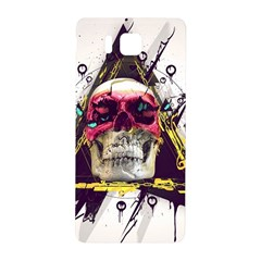 Skull Paint Butterfly Triangle  Samsung Galaxy Alpha Hardshell Back Case