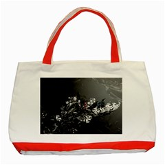 Shape Pattern Light Color Line  Classic Tote Bag (red)