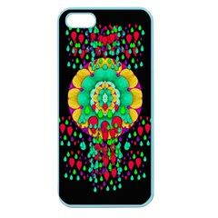 Rain Meets Sun In Soul And Mind Apple Seamless Iphone 5 Case (color)