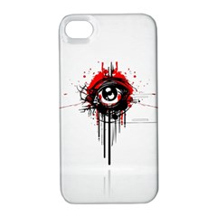 Red White Black Figure  Apple Iphone 4/4s Hardshell Case With Stand
