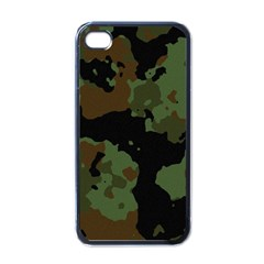 Military Background Texture Surface  Apple Iphone 4 Case (black)