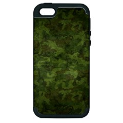 Military Background Spots Texture  Apple Iphone 5 Hardshell Case (pc+silicone)