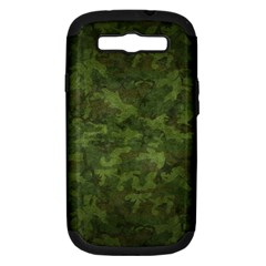 Military Background Spots Texture  Samsung Galaxy S Iii Hardshell Case (pc+silicone)