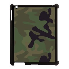 Military Spots Texture Background  Apple Ipad 3/4 Case (black)