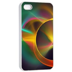 Light Color Line Smoke Apple Iphone 4/4s Seamless Case (white)