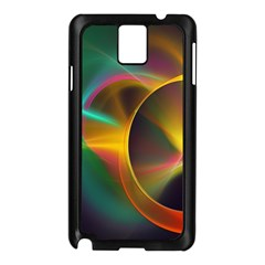 Light Color Line Smoke Samsung Galaxy Note 3 N9005 Case (black)
