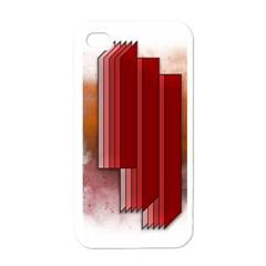 Line Shape Spot Paint  Apple Iphone 4 Case (white)