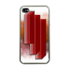 Line Shape Spot Paint  Apple Iphone 4 Case (clear)