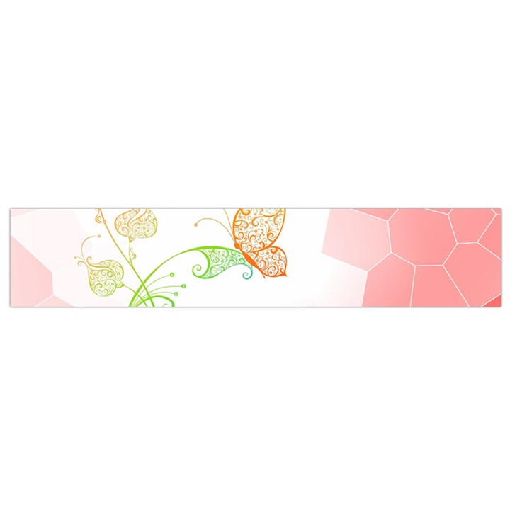 Flower Butterfly Dots Abstract Vector  Flano Scarf (Small)