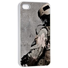Cool Military Military Soldiers Punisher Sniper Apple Iphone 4/4s Seamless Case (white)