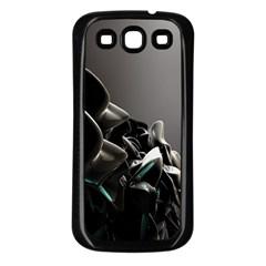 Black White Figure Form  Samsung Galaxy S3 Back Case (black)
