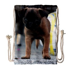 Brussels Griffon Front View Drawstring Bag (large)