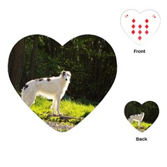 Borzoi In Woods Playing Cards (heart)