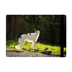 Borzoi In Woods Apple Ipad Mini Flip Case
